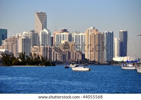 Downtown Miami from Virginia Key