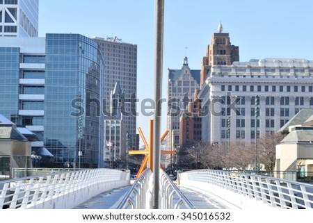 Downtown Milwaukee - stock photo