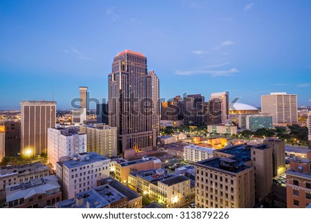Downtown New Orleans, Louisiana, USA - stock photo