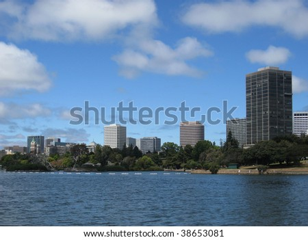 Downtown Oakland across Lake Merritt