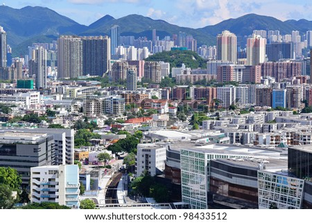 downtown of Hong Kong city