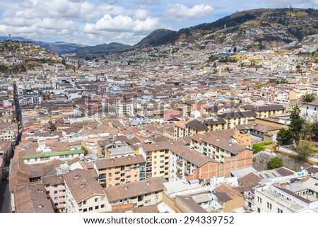 Downtown of Quito, Ecuador - stock photo