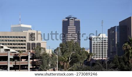 Downtown of Tucson at Congress Avenue, Arizona - stock photo
