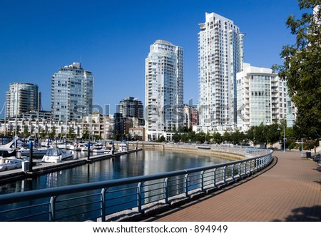 Downtown of Vancouver. - stock photo