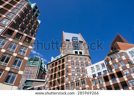 Downtown office buildings - stock photo