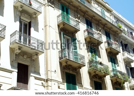 Downtown perspectives in Bari