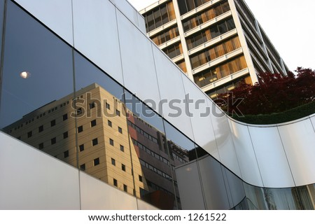 Downtown Reflections - stock photo