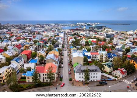Downtown Reykjavik - stock photo