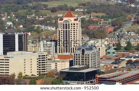 Downtown Roanoke - stock photo
