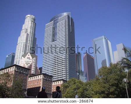 Downtown Skyline, Los Angeles - stock photo