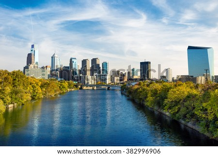 Downtown Skyline of Philadelphia, Pennsylvania