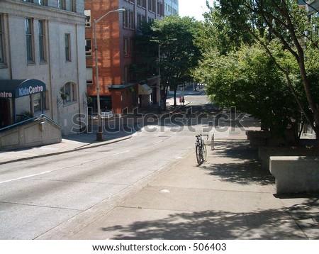 Downtown street - stock photo