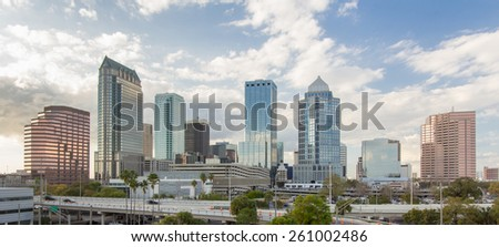 Downtown Tampa Florida daytime afternoon - stock photo