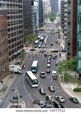 Downtown Toronto, Canada. Aerial View. - stock photo