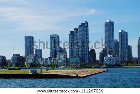 Downtown Toronto  Skyline Waterfront in Canada - stock photo