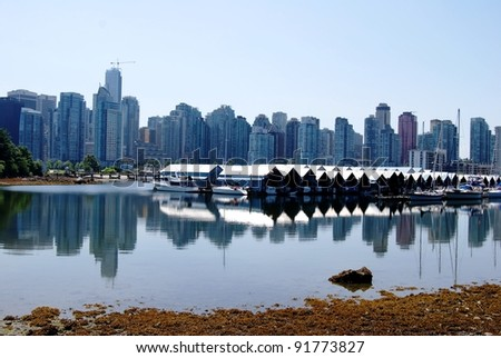 Downtown Vancouver Waterfront Skyline, Canada - stock photo