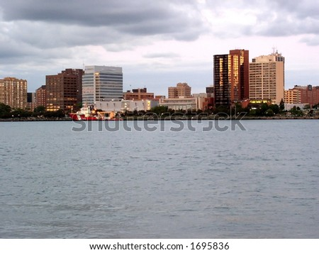 Downtown Windsor - stock photo
