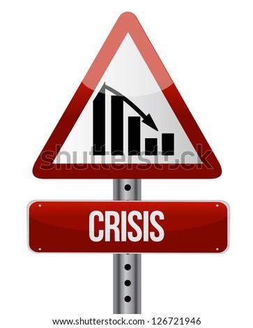 Downward trend concept crisis illustration design over a white background - stock photo