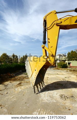 dozer construction - stock photo