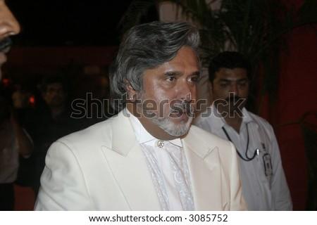 Dr. Vijay Mallya Kingfisher Airline Kingfisher Beer India - stock photo