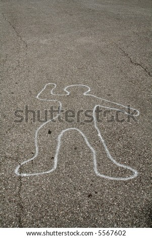 Draft of a man on the street - stock photo