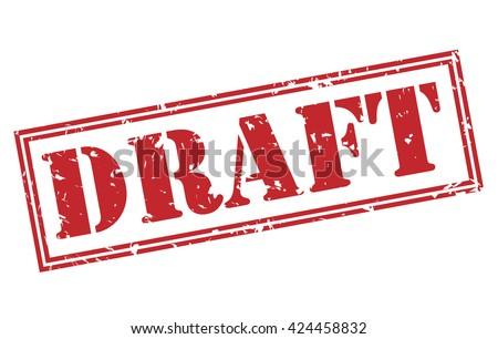 draft stamp - stock photo