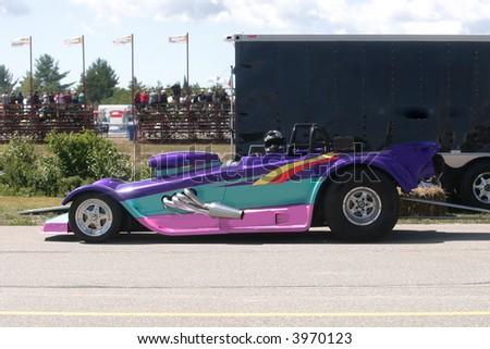 drag racing car - stock photo