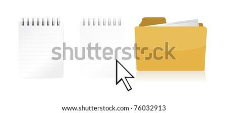 dragging file inside a document folder illustration design - stock photo