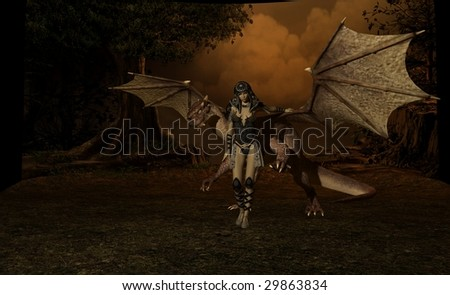 dragon and rider