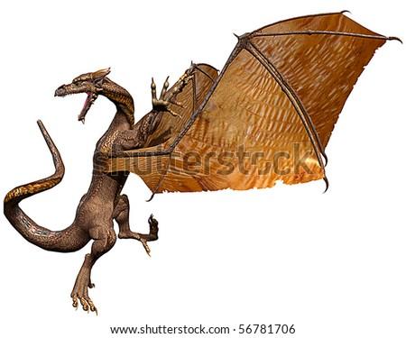 dragon attack - stock photo