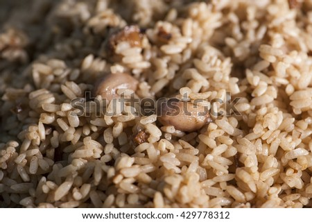 Dragon boat dumplings stuffing-Glutinous rice wrapped in bamboo  - stock photo