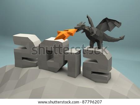 dragon chinese horoscopes - stock photo
