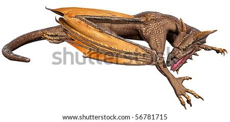 dragon down - stock photo