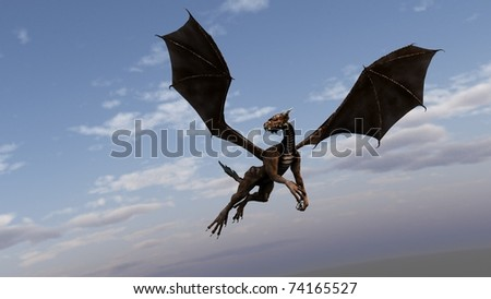 dragon fly in the sky - stock photo