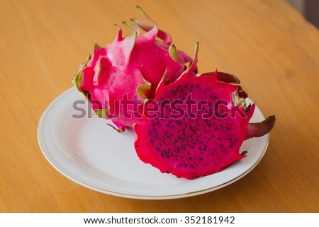 Dragon Fruit Crepe Cake