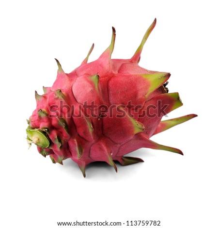 Dragon fruit isolated on white background. - stock photo