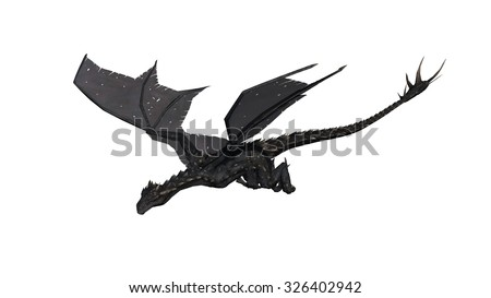 Dragon isolated on white background