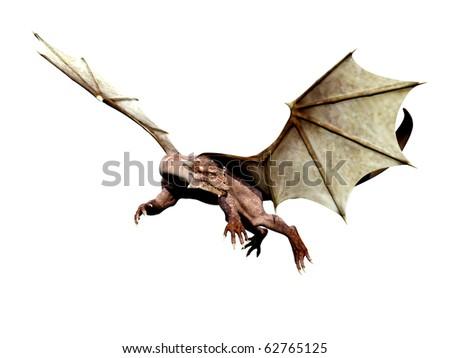 dragon looking around - stock photo