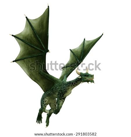 dragon simply flying - stock photo