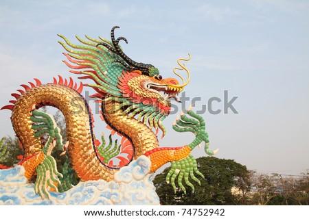 dragon statue - stock photo