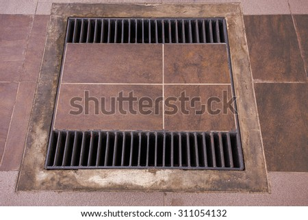 Drain in the house - stock photo