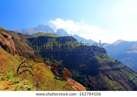 Drakensberg Dragon mountains landscape - stock photo