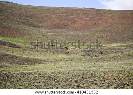 Drakensberg Dragon mountains landscape in South Africa