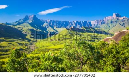 Drakensberg National Park - stock photo