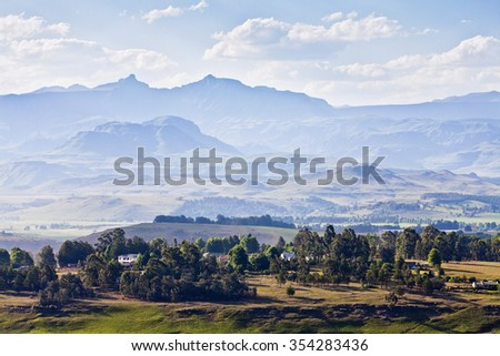 Drakensberge, South africa - stock photo