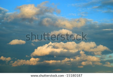 Dramatic cloud scape background - stock photo