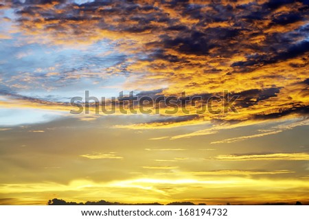 Dramatic cloudscape for your sky design background
