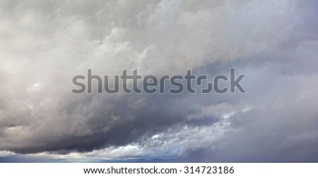 Dramatic cloudscape in the storm - stock photo