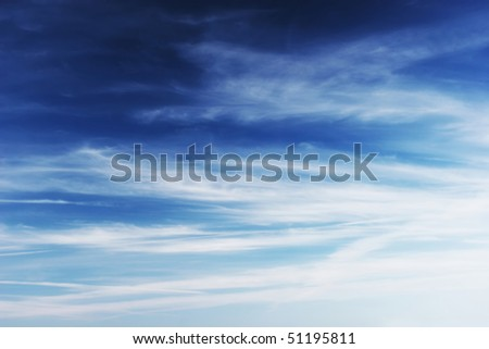 Dramatic cloudy sky. Abstract background - stock photo