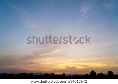 Dramatic cloudy sky in twilight time background